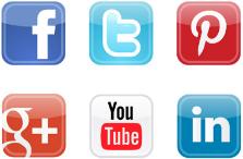 Social Media Icon board